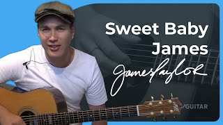 Sweet Baby James - James Taylor (Songs Guitar Lesson ST-625) How to play