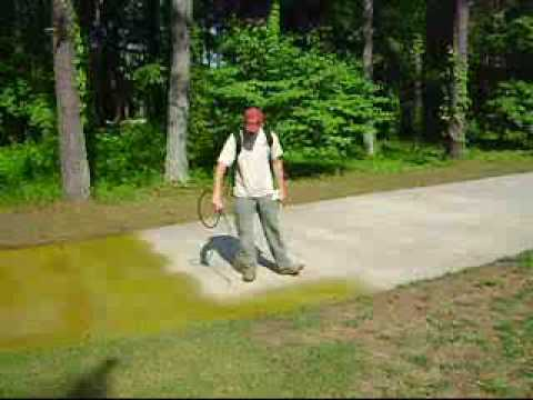 Concrete Driveway Staining Wmv Youtube