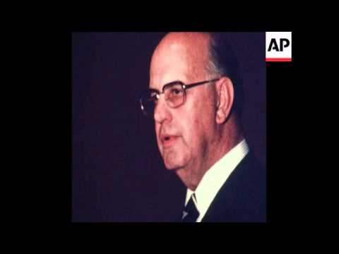 UNUSED 21/11/80 SOUTH AFRICAN PRIME MINISTER PETER BOTHA TALKING IN JOHANNESBURG