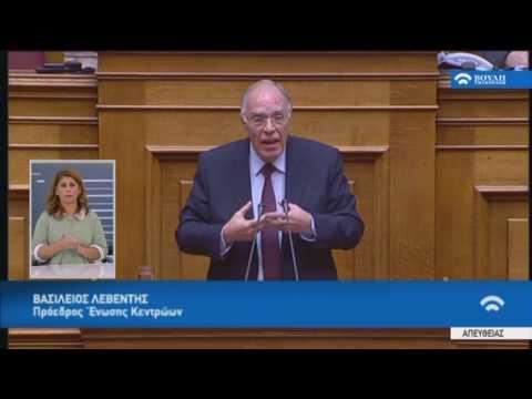 Ομιλία Προέδρου Εν.Κεντρώων Β.Λεβέντη στην Προ Ημερησίας Διατ. Συζήτηση (Αγρότες) (18/01/2017)