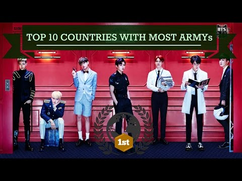 WHICH COUNTRIES LOVE BTS THE MOST? [TOP 10 RANKING POPULARITY]