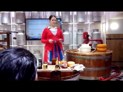 Visit to a cheese factory in Volendam, North Holland in The Netherlands