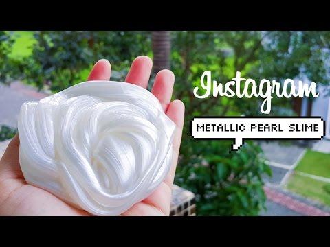 DIY Instagram Metallic Pearl Slime w/ Metallic Powder (lustre dust)