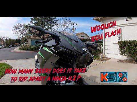 2019 Kawasaki Ninja H2 Carbon ECU Removal   KSIX