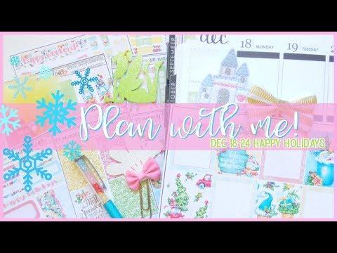 Plan with Me! Dec. 18-24 Happy Holidays in my Erin Condren Life Planner
