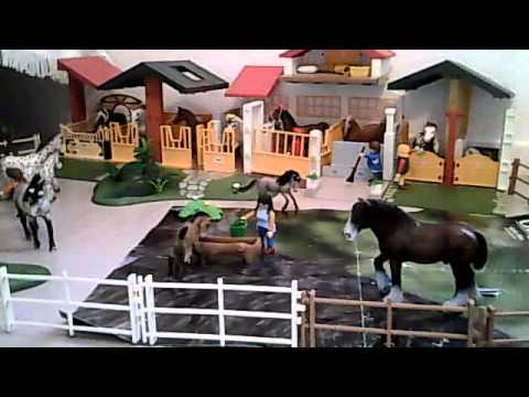 pr sentation de notre centre questre schleich youtube. Black Bedroom Furniture Sets. Home Design Ideas