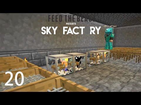 Sky Factory 3 w/ xB - AUTO HAMMER & SIEVE [E20] (Minecraft Modded Sky Block)