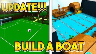 UPDATE IS OUT! (Soccer Quest & New Stages!) | Build a boat for Treasure ROBLOX