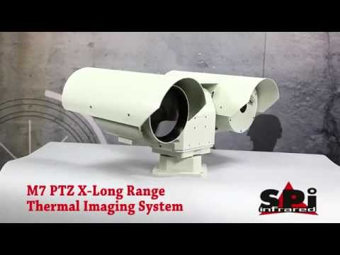 M7 Long Range Uncooled LWIR Thermal FLIR PTZ camera with continuous optical telephoto zoom lens