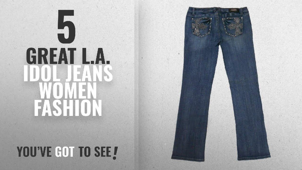 5e3e775e3d4 L.A. Idol Jeans Women Fashion  2018 Best Sellers   L A Idol Women Plus  Bootcut Jeans Crystal Angel