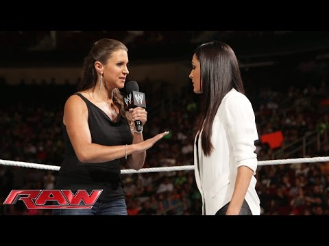 Brie Bella and Stephanie McMahon agree to battle at SummerSlam: Raw, July 28, 2014