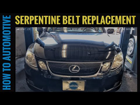 How to Replace the Serpentine Belt on a 2005-2011 Lexus GS 300