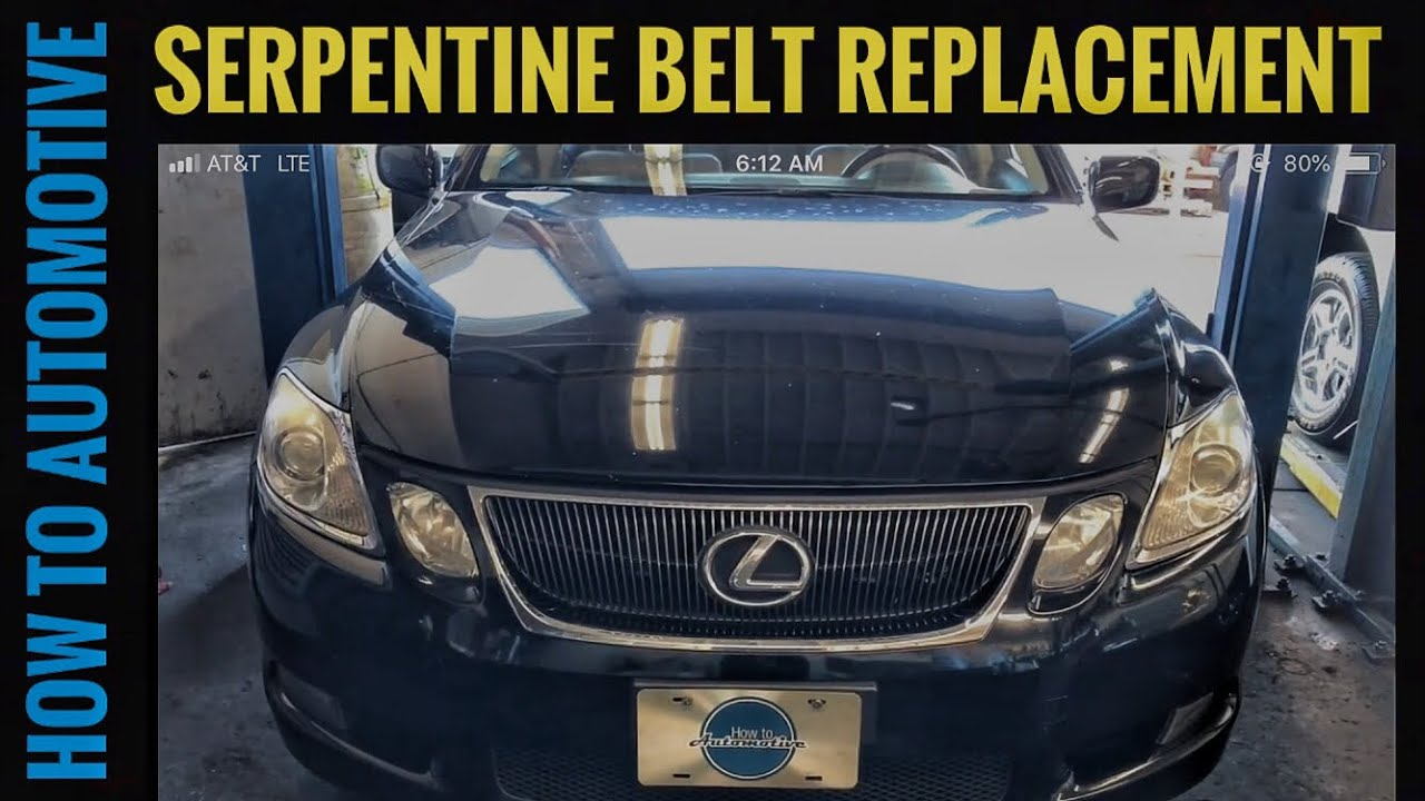 how to replace the serpentine belt