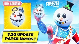 Fortnite - NEW UPDATE!! PATCH 7.30 LEAKS AND ALL THE NEW UPDATE!