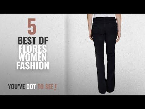 Flores Women Fashion [2018 Best Sellers]: Beija-Flor Jeans Jennifer Bootcut Black Corduroy