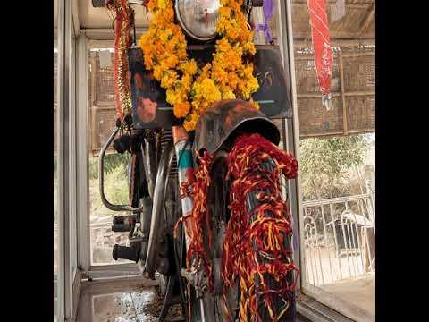 Video - जहाँ कि जाती हैं बुलेट बाइक कि पूजा, माँगी जाती हैं सकुशल यात्रा कि मन्नत