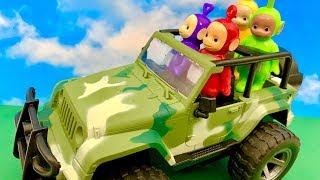 Teletubisie i Jeep  Po kupiła sobie Jeepa  Bajka dla dzieci PO POLSKU
