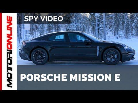 Porsche Mission E 2019 | Spy video (march 2018)