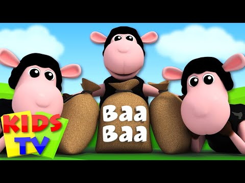 Baa Baa Black Sheep 3D Nursery Rhymes Kids Songs kids tv S03 EP42