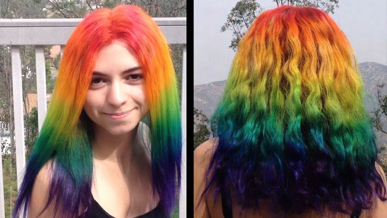 How To Dye Your Hair Rainbow!
