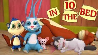 Десять в постели | Ten in the Bed | детские стишки для детей | мультфильм песня в России