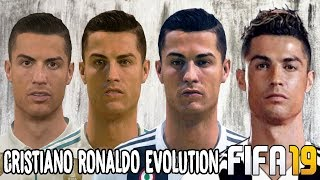 Cristiano Ronaldo Ratings and Face Evolution (FIFA 04 - FIFA 19)
