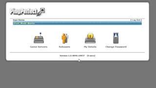 Ping Perfect TCadmin Game Server Tutorial Login