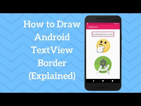 Android Border - Draw Android Textview Border - Coding Demos