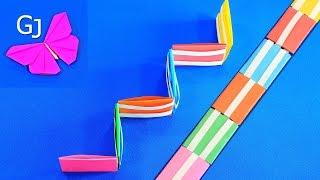 Движущиеся оригами Лестница Якова из бумаги