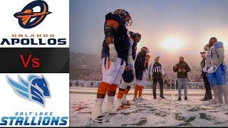 Orlando Apollos vs Salt Lake Stallions | AAF Week 4 Highlights