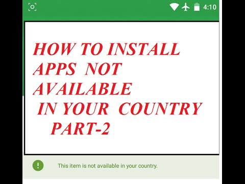 how to fix this is not available in your country