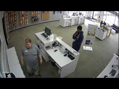 Same piece of S#!T thief steals 2 iPhone 7's from Sprint store in Birch Run