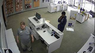 Same piece of S#!T steals 2 iPhone 7's from Sprint store in Birch Run Actual Theft is at 16:20