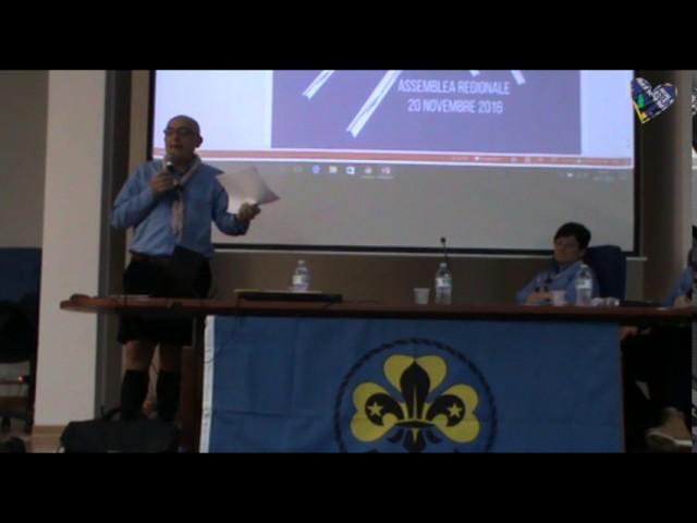 Assemble Regionale, intevento del Capo Scout Ferri Cormio