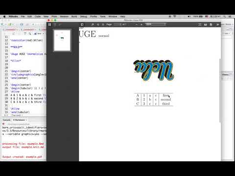 R Tutorial 16: How to Write Mathematical Equation, Format Text, Embed Picture in Markdown PDF