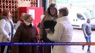 Yvelines | Opération tractage au marché des Clayes-sous-Bois pour Anne-Claire Frémont