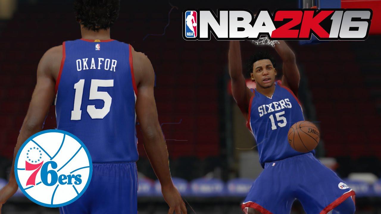 4b812aec443 NBA 2k16 Rookie Preview - Jahlil Okafor - Philadelphia 76ers! - YouTube
