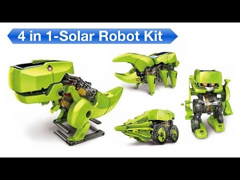 4 In 1 Solar Robot Kit - (Unbox, Build & Review)
