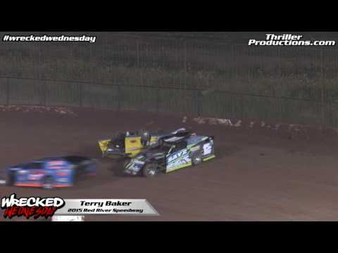 Wrecked Wednesday 13 Terry Baker Modified flip at Red River Speedway in 2015