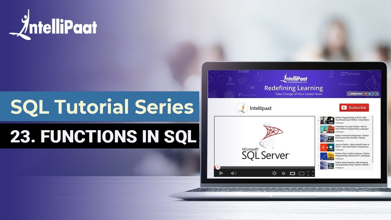 SQL Functions - Date, Rank, String, Aggregate Functions in