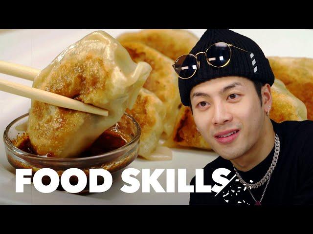 Jackson Wang Learns How to Make Dumplings   Food Skills