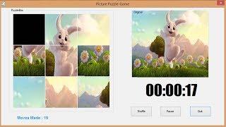 كيفية إنشاء صورة لغز اللعبة في C#