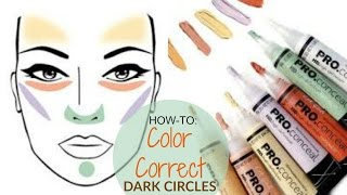 How To| COLOR CORRECT for Beginners! Hide DARK CIRCLES & DARK SPOTS