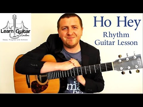 Ho Hey Easy Guitar Tutorial The Lumineers With Rhythm Arrows