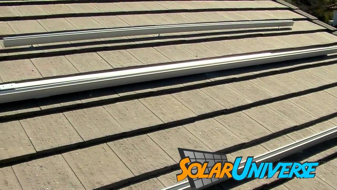 Solar Panels On Concrete Roof Youtube