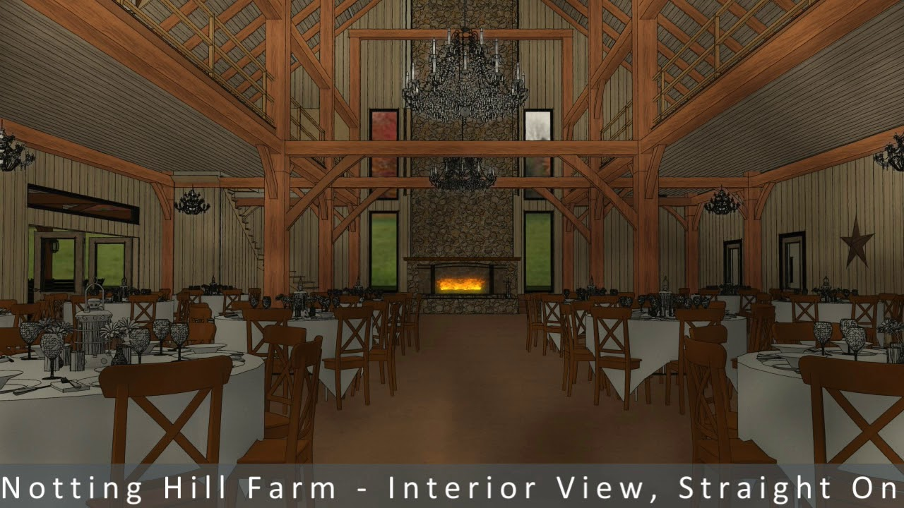 Farmhouse Restaurant Chapel Hill 3d Architectural Rendering For Commercial Development Notting Hill Farm