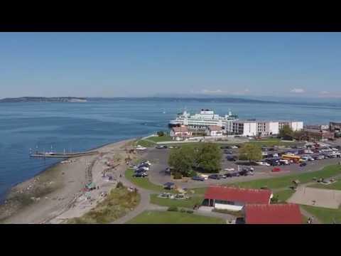 Aerial look at Mukilteo WA