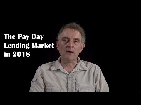 The Pay Day Lending Market In 2018