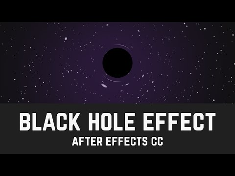 Black Hole Gravitational Lens Animation  - After Effects Tutorial (No Third Party Plugin) - T004