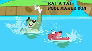 rat a tat   pool maker don   chotoonz kids funny cartoon videos